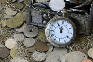 小銭と懐中時計