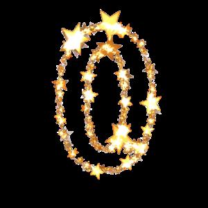 金色の星のゼロの文字