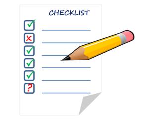 チェックリストと鉛筆