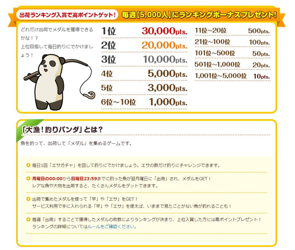 大漁釣りパンダの説明