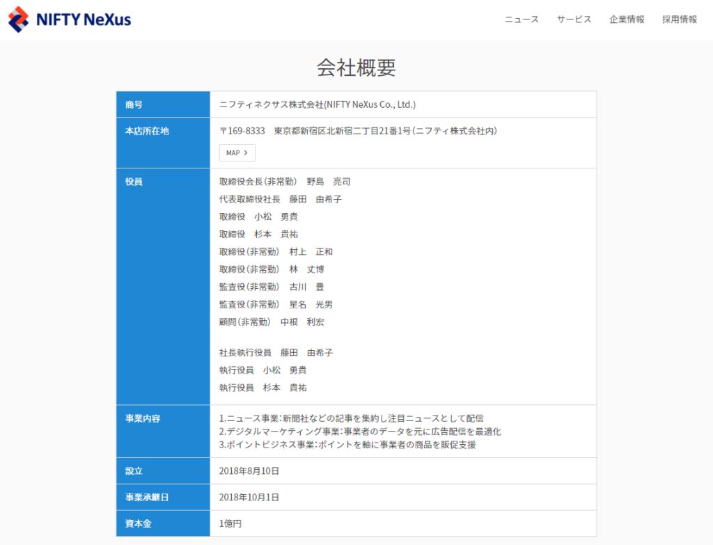ライフメディアの運営会社情報